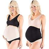 2 Pack Cintur¨®n de Maternidad Embarazada y Extensor de Cintura Sin Costura