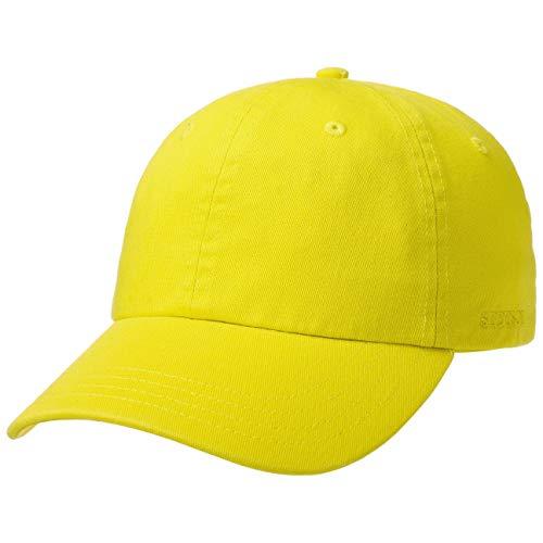 Stetson Rector Basecap - Cap für Damen/Herren - Sonnenschutz-Cap aus Baumwolle (UV-Schutz 40+) - Baumwollcap größenverstellbar (55-60 cm) - Baseballcap Sommer/Winter Neongelb One Size