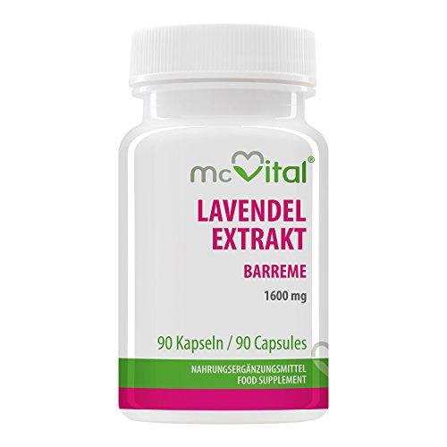 McVital Lavendel Extrakt 1600 mg • 90 Kapseln • Barreme • Standardisierter Esteranteil • Made in Germany