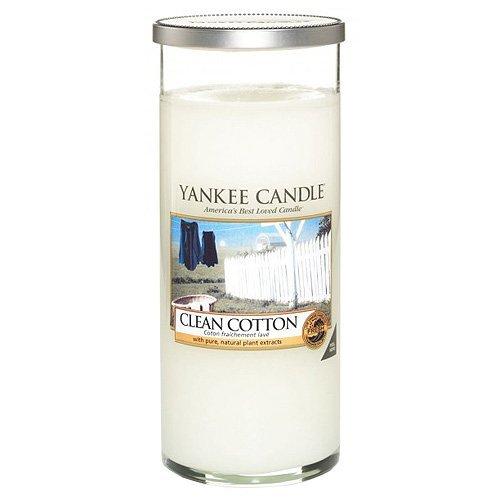 Yankee Candle vela de pilar grande, Algodón blanco, blanco