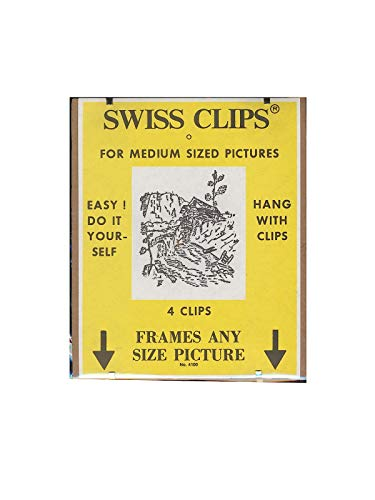 BC Imports Swiss Clips for Medium Sized Pictures, Includes 4 Clips