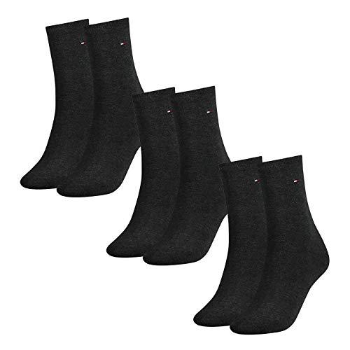 Tommy Hilfiger Damen Socken, Classic, Strümpfe, 6er Pack (Grau, 35-38 (6 Paar))