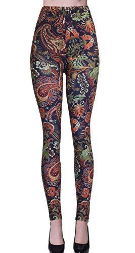 VIV Collection Regular Size Digital Printed Leggings (Amazon Paisley)