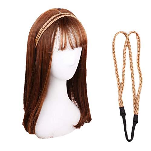 BONAMART Damen Mädchen Hippie Geflochten Doppelschicht Stirnband Haarband