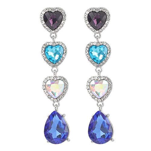 Vvff Pendientes De Diamantes De Imitación En Forma De Corazón De Metal Pendientes De Gota Pop Para Mujer Accesorios De Joyería De Palacio