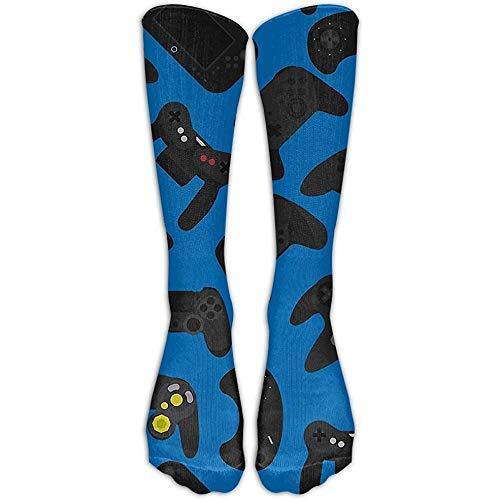 NA Womens & Mens Video Game Controller lange sokken grappige jurk tube sokken voor sportieve