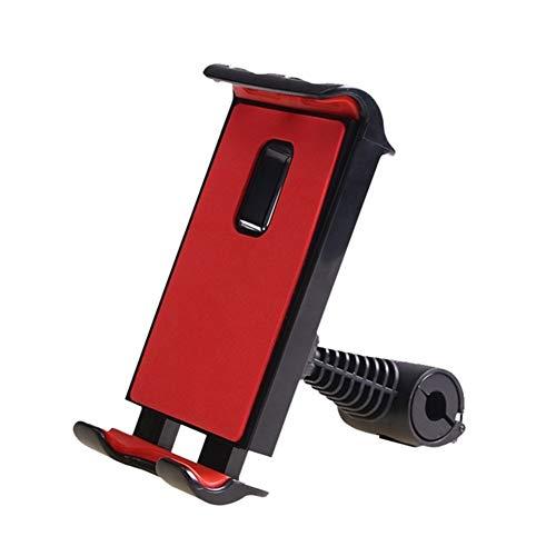 Generic Brands Car Phone Holder 360 Rotation Mobile Phone Mount Holder Car Tablet Phone Holder Seat Ajustable iPad Stand Car Phone Holder For Headrest (Color : Red)
