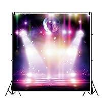 Qinunipoto1.5x1.5m写真の背景の背景布ステージフェスティバルお祝いコンサートホール社交装飾家族写真スタジオ写真撮影ステージ装飾キャラクター写真イベントパフォーマンス誕生日パーティーパーティー