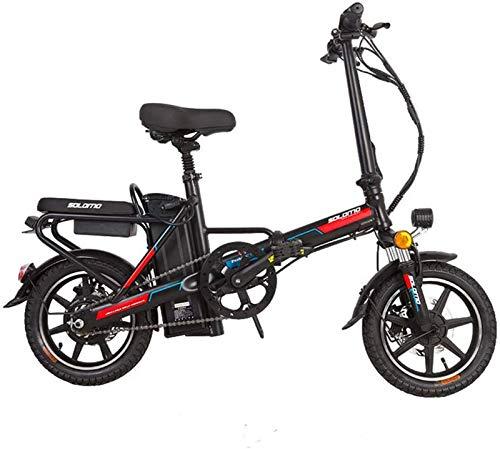 Bici electrica, Bicicleta eléctrica for Adultos, e Bicicletas Plegables con Gran Capacidad extraíble de Iones de Litio (48V 350W 8Ah) 120 kg Capacidad de Carga (Color : Red)
