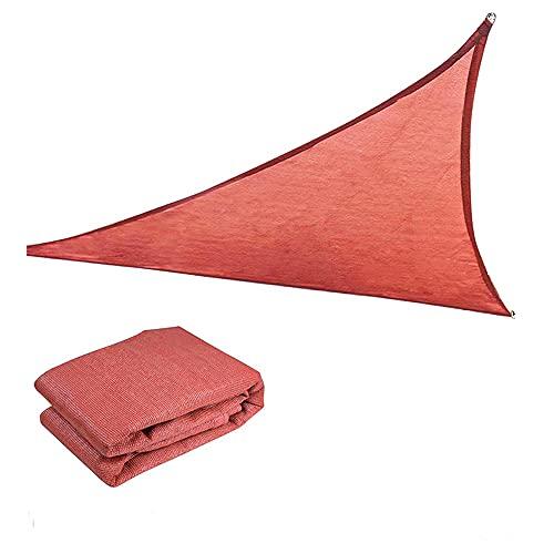ZCED Vela de Sombra Solar, Triángulo Rectángulo Parasol Impermeable Al Aire Libre Parasol Vela Patio Parasol Parasol Parasol Parasol Vela Pabellón Permeable UV Bloque Tela Durable Exterior,5 * 5 * 5m