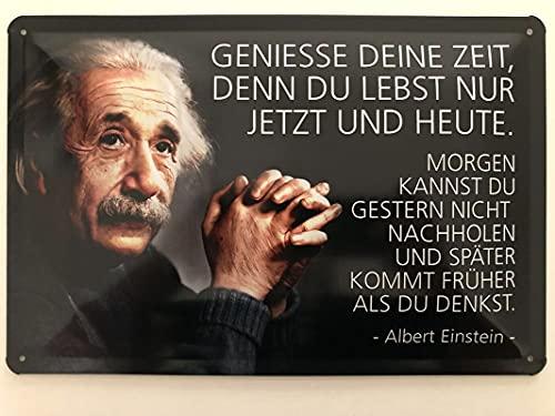 Cartel de metal de 20 x 30 cm con texto en alemán