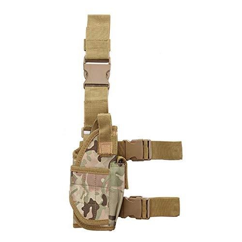 MKXULO Funda de Pierna táctica Ajustable, de caída de Airsoft, Funda de Pierna de Pistola Dispositivo de extracción rápida Adaptable,A