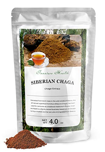 Innature Health Chaga Extract 10:1 100% Natural | Antioxidant, Immune System Support, Anti-Aging (4 oz)
