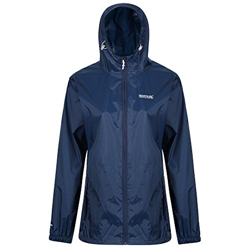 Regatta Damen Pack it III wasserdichte Shell Jacke, blau, M (Herstellergröße: 14)