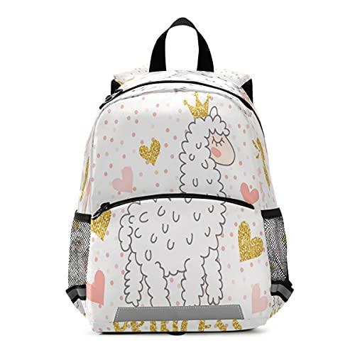 Mochila para niños, linda princesa Llama Kindergarten School Bag para niños pequeños y niñas