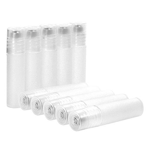 Sharplace Paquetes 10pcs 5ml Rollo de Plástico Vacío en Botellas de Crema de Maquillaje Aceites Esenciales Viales de Bolas de Rodillos