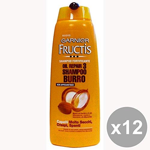 l'Oreal Fructis Shampoo Oil Repair 3 Burro - Pacco da 12 x 3000 gr