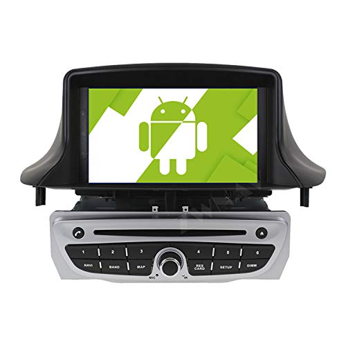 AOTSR 7 Pulgadas Android 10.0 Radio Coche con Pantalla Táctil estéreo, para Renault Megane 3 Fluence 2009-2015, 1080P HD DVD Multimedia Autoradio, DSP Carplay navegación GPS Bluetooth WiFi
