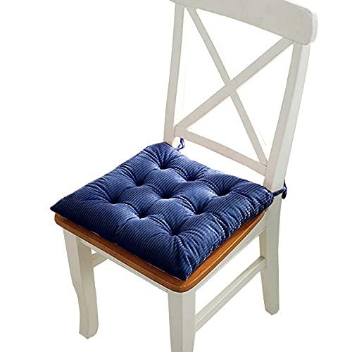 WEIGE Cojines de Pana para sillas Cojín de Asiento con Lazos para Comedor Cocina Interior Cojines para sillas de Exterior 15.7'x15.7 Comodidad y suavidad Superiores Juego de 4 6