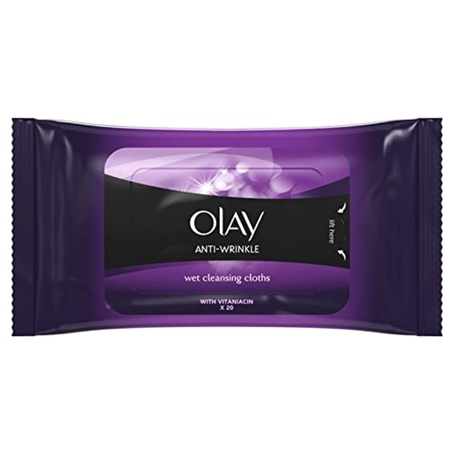 ネスト技術月曜日Olay Anti Wrinkle Firm & Lift Wet Cleansing Wipes 20 per pack (Pack of 6) - パックごとに20ワイプ抗シワ事務所をオーレイ&湿ったクレンジングを持ち上げます x6 [並行輸入品]
