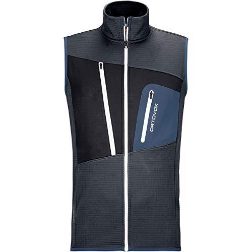 ORTOVOX Mens Grid M Fleece Vest, Black Steel, M