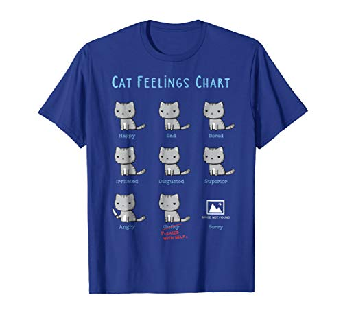 Shirt.Woot: Cat Feelings Chart T-Shirt