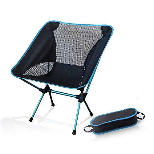 FUJGYLGL Sillas Plegables portátiles al Aire Libre, Ultraligero Silla de Camping Playa con Bolsa de Transporte, Breathablem cómodo, Perfecto for el Aire Libre, Camping, Senderismo, Picnic