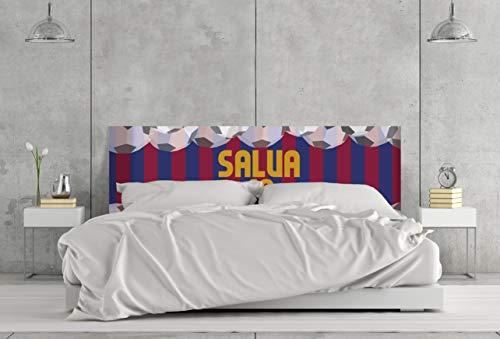 Cabecero Cama PVC Impresión Digital 100% Personalizado | Futbol Azulgrana 150 x 60 cm | Cabecero Original y Económico