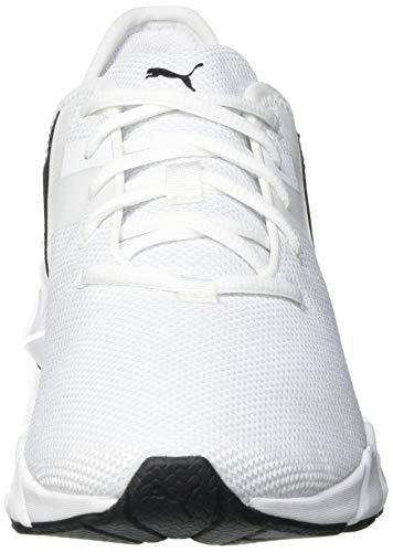 PUMA 192611, Zapatillas de Gimnasio Mujer, Blanco Negro Ignite Rosado, 41 EU