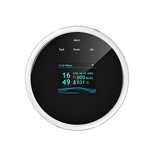 Kedelak Tuya Wifi Sensor de gas natural Detector de alarma de gas combustible inteligente para el hogar Sensor de fugas de gas Compatible con Amazon Alexa Asistente de Google