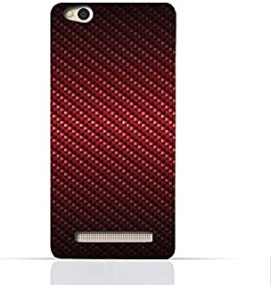 Xiaomi Redmi 4a TPU Silicone Case With Red Fiber Pattern Design