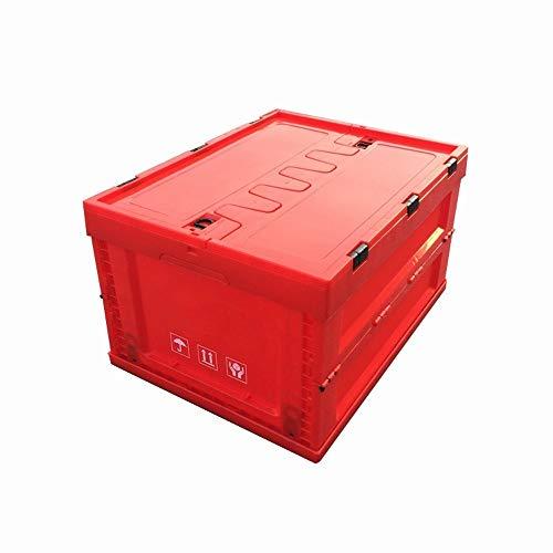 Inklapbare kofferbak organisator en Storage Box 65L Bins - Duurzaam Kunststof Folding Utility Kratten Opvouwbare Storage Bin, Duurzaam Folding Solid Plastic Stack-able Utility Kratten, Organizer Box