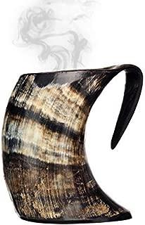 AleHorn Hot Horn Mug Tankard Safely Holds Hot and Cold Liquids Coffee Tea Hot Chocolate..