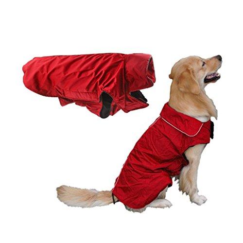 BXT Veste pour Chien Manteau d'hiver Imperméable Hiver-Coat Chaud à Carreaux Chaude Hiver Doux Pull Veste Manteau Sweat-shirt d'hiver Automnepour Petit Chien Chiot Couleur- Rouge( Taille XXXL)