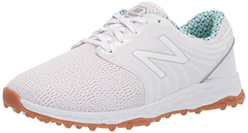 New Balance Women's Fresh Foam Breathe Golf Shoe, White/Blueprint, 6.5