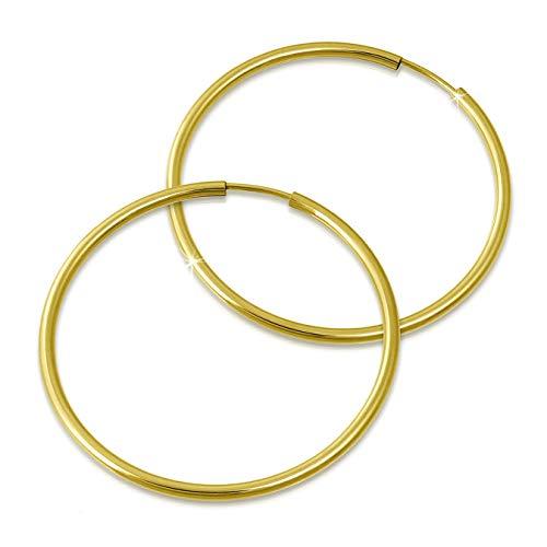 GoldDream Gold Creolen 50mm 333 Gelbgold Ohrring Simply Echtschmuck D3GDO0005Y Gold, Gelbgold Ohrschmuck für die Frau