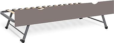 Sommier gigogne avec façade Strata Lin 90x200 cm