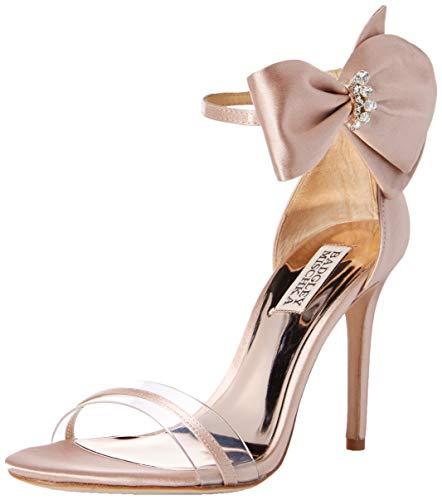 Badgley Mischka Women's Fran Heeled Sandal, Soft Blush, 7.5 M US