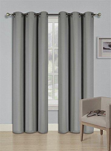 GorgeousHomeLinen (K68) 2 Panel Grommet Top Window Curtain UnLined Thermal 3 Layerd 99% Blackout Treatment Drape Solid Colors (63