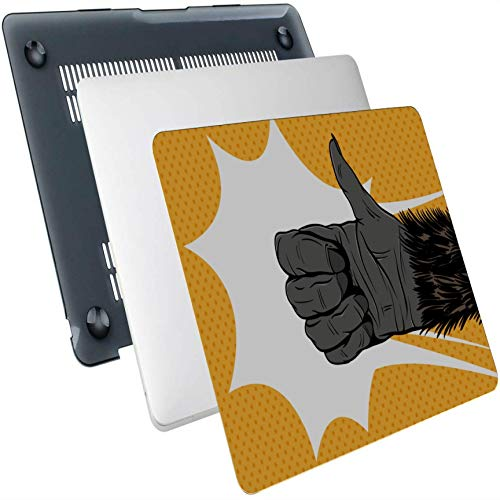 2018 Macbook Air Case Flexible Animation Monkey Carcasa rígida de plástico Compatible con Mac Air 13'Pro 13' / 16'Funda Protectora para computadora portátil Cubierta Protectora para Macbook Versión