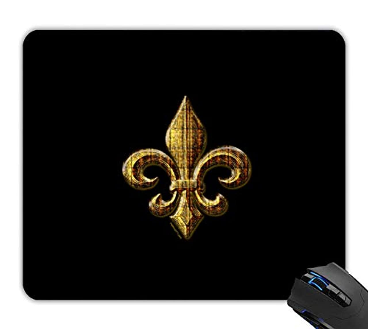 OTTIET Custom Gold Fleur de lis Gaming Mouse Pad 9.5 X 7.9 Inch (240mmX200mmX2mm).Non-Slip Thick Rubber Large Mousepad.