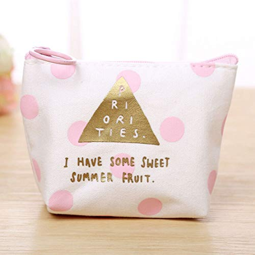 Best Quality - Coin Purses - cute mini coin purse canvas bag women girls letters printed keys pouch phone headset holder bags new - by LOUISE - 1 PCs
