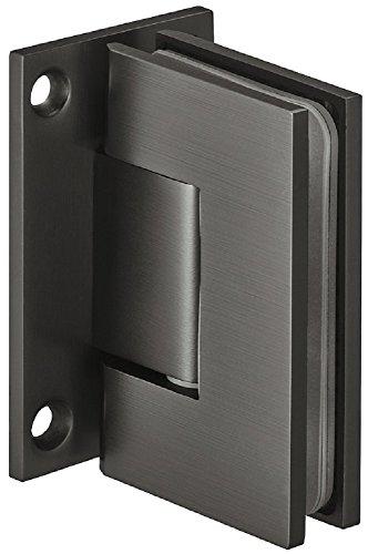 Gedotec Bad-Türscharnier für Glastüren und Duschen Duschtürband schwarz Glastürbeschlag Messing - DT801 | Duschkabinen-Scharnier für Wand zu Glas Verbindung | 1 Stück - Glastürband graphitschwarz