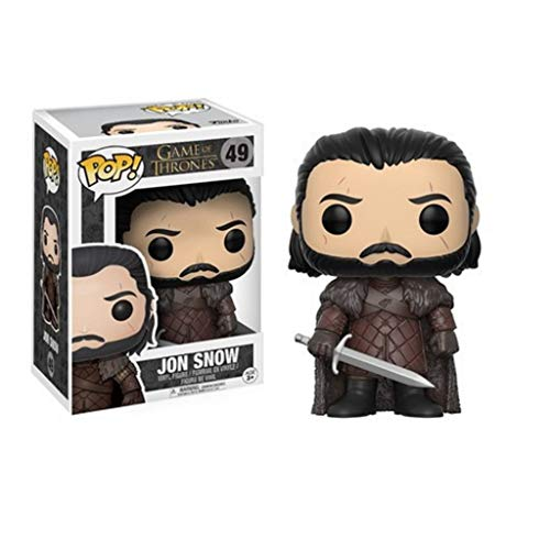 CJH Game of Thrones Jon Snow: pop-charmante karikatuur pvc-afbeelding met voortreffelijke verpakking De Best Collection for game fans Grootte: 12 cm