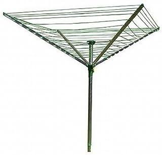 Minky QQ45090104G SECHOIR Parapluie TELESCOPIQUE 45M, Aluminium, Gris, 175x125x180 cm
