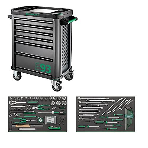 Stahlwille 98830119 Carro de taller TTS 93, incluye 111 piezas. Surtido de herramientas de primera calidad, equipamiento original para la industria, artesanía y automoción