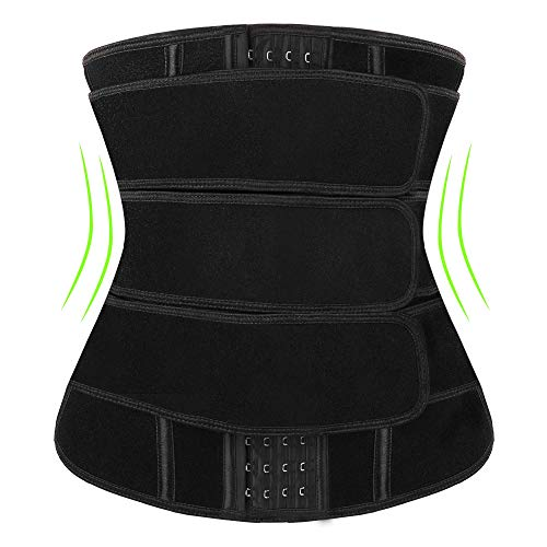 Waist Trainer for Women, Corset Sweat Trimmer Belt for Weight Loss Plus Size Slimming Workout Sauna Belt Neoprene Hourglass Body Shaper