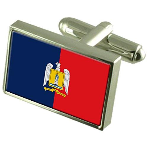 Select Gifts La città di Valparaiso Cile bandiera gemelli incisi Box