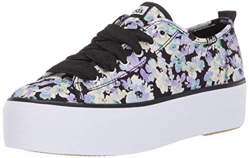 Keds Women's Triple Up Floral Sneaker, Black Multi, 11 M US