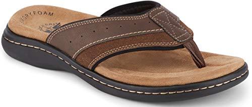 Dockers Mens Laguna Casual Flip-Flop Sandal Shoe, Briar, 12 M